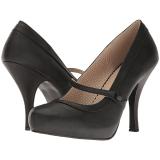 Noir Similicuir 11,5 cm PINUP-01 grande taille escarpins femmes