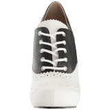 Noir Similicuir 11,5 cm PINUP-07 grande taille chaussures oxford