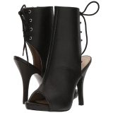 Noir Similicuir 12,5 cm EVE-102 grande taille bottines femmes