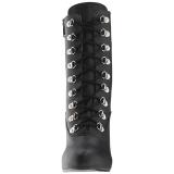 Noir Similicuir 12,5 cm EVE-106 grande taille bottines femmes