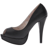 Noir Similicuir 13,5 cm CHLOE-01 grande taille escarpins femmes