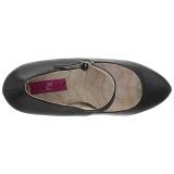 Noir Similicuir 13,5 cm CHLOE-02 grande taille escarpins femmes