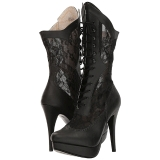 Noir Similicuir 13,5 cm CHLOE-115 grande taille bottines femmes