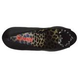 Noir Similicuir 13 cm PIXIE-17 Chaussures femme a talon avec rivets