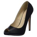 Noir Similicuir 13 cm SEXY-42 Chaussures Escarpins Classiques