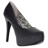 Noir Similicuir 14,5 cm Burlesque TEEZE-06W pieds larges escarpins pour homme