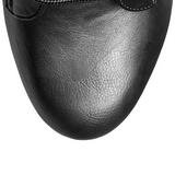 Noir Similicuir 15,5 cm DELIGHT-1020 Plateforme Bottines