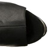 Noir Similicuir 15 cm DELIGHT-3019 Cuissardes Bottes Plateforme
