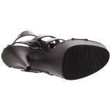 Noir Similicuir 15 cm DELIGHT-658 chaussures pleaser talons hauts