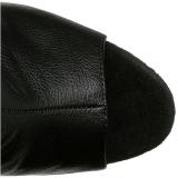 Noir Similicuir 16,5 cm ILLUSION-3019 Cuissardes Bottes Plateforme