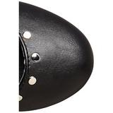 Noir Similicuir 16 cm CRAMPS-02 Chaussures Escarpins Gothique