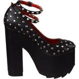 Noir Similicuir 16 cm CRAMPS-06 Chaussures Escarpins Gothique