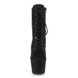 Noir Similicuir 18 cm ADORE-1020FS bottines femmes à lacets