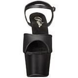 Noir Similicuir 18 cm ADORE-709 Plateforme Chaussures Talon Haut