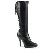 Noir Similicuir 5 cm EVE-208 grande taille bottes femmes