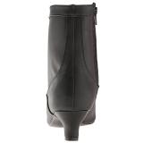 Noir Similicuir 5 cm FAB-1005 grande taille bottines femmes
