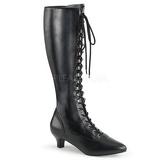 Noir Similicuir 5 cm FAB-2023 grande taille bottes femmes