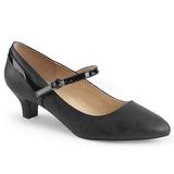 Noir Similicuir 5 cm FAB-425 grande taille escarpins femmes