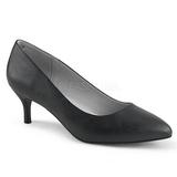 Noir Similicuir 6,5 cm KITTEN-01 grande taille escarpins femmes