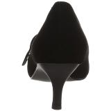 Noir Similicuir 6,5 cm KITTEN-03 grande taille escarpins femmes