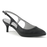 Noir Similicuir 6 cm KITTEN-02 grande taille escarpins femmes