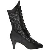 Noir Similicuir 7,5 cm DIVINE-1050 grande taille bottines femmes