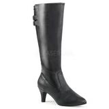 Noir Similicuir 7,5 cm DIVINE-2018 grande taille bottes femmes