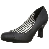 Noir Similicuir 7,5 cm JENNA-01 grande taille escarpins femmes