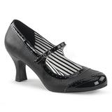 Noir Similicuir 7,5 cm JENNA-06 grande taille escarpins femmes