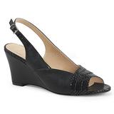 Noir Similicuir 7,5 cm KIMBERLY-01SP grande taille sandales femmes