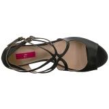 Noir Similicuir 7,5 cm KIMBERLY-04 grande taille sandales femmes