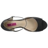 Noir Similicuir 7,5 cm KIMBERLY-05 grande taille sandales femmes