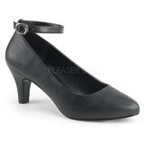 Noir Similicuir 8 cm DIVINE-431W Escarpins Chaussures Femme