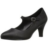 Noir Similicuir 8 cm DIVINE-440 Escarpins Chaussures Femme