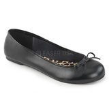 Noir Similicuir ANNA-01 grande taille chaussures ballerines