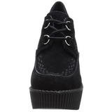 Noir Similicuir CREEPER-302 chaussures creepers compensées