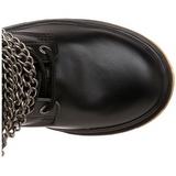 Noir Similicuir DEFIANT-402 Bottes à Boucles Hommes