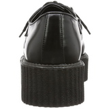 Noir Similicuir V-CREEPER-502 Chaussures Creepers Hommes Plateforme