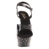 Noir Strass 15 cm STARDUST-609 Chaussures pour femmes a talon