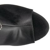 Noir Strass 18 cm ADORE-2024RSF bottes a frangees pour femmes a talon