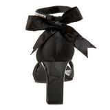 Noir Strass 8,5 cm ROMANCE-372 Sandales Femme a Talon