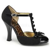 Noir Suede 10 cm SMITTEN-10 Rockabilly escarpins à talons hauts