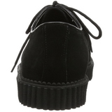 Noir Suede 2,5 cm CREEPER-602S Chaussures Creepers Hommes