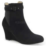 Noir Suede 7,5 cm KIMBERLY-102 grande taille bottines femmes