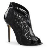 Noir Tissu 13 cm AMUSE-48 Chaussures Escarpins de Soirée