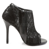 Noir Tissu 13 cm AMUSE-56 Chaussures Escarpins de Soirée