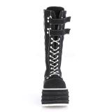 Noir Toile 10 cm MORI-310 bottes demonia plateforme