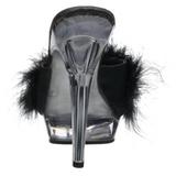 Noir Transparent 13 cm Fabulicious LIP-101-8 Plateforme Mules Hautes