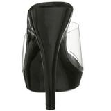Noir Transparent 13 cm Fabulicious LIP-101 Mules Talons Aiguilles