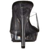 Noir Transparent 14 cm COCKTAIL-501 Mules Talons Aiguilles